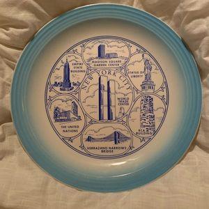 Vintage New York City Collectors Plate WTC